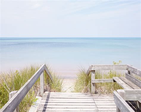 pinery steps beach  horizontal lake huron beach