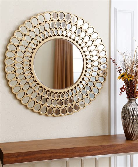 9 Dazzling Round Wall Mirrors To Decorate Your Walls. Gold Sofa. 42 Inch Round Table. Fireplace Lighting. Glass Top Coffee Tables. Daybed In Nursery. Bespoke Kitchen. Male Bedroom Ideas. Black Tub
