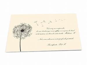 cartes deces classiques pissenlit ref02dec3005 With chambre bébé design avec remerciement deces fleurs