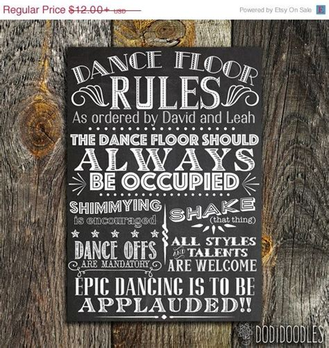 printable custom wedding sign dance floor