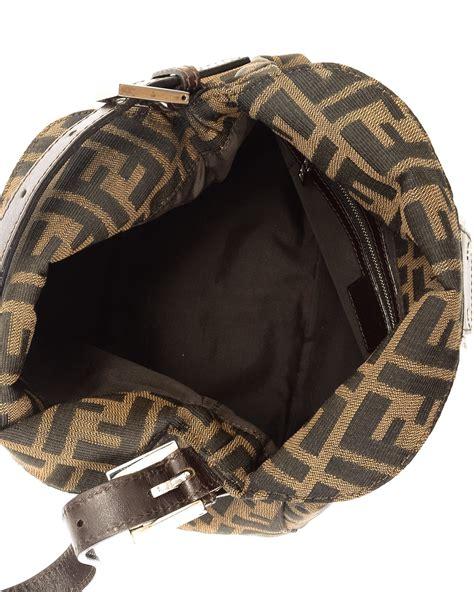 fendi monogram shoulder bag  brown lyst