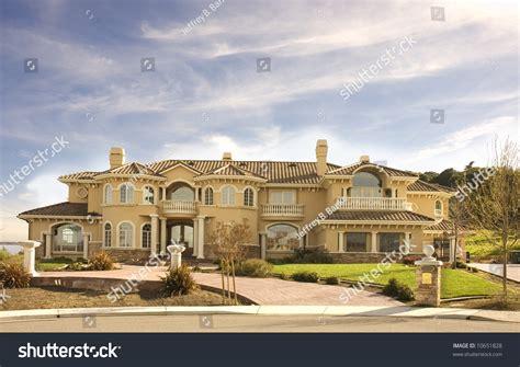 custom mansion hills northern california stock photo