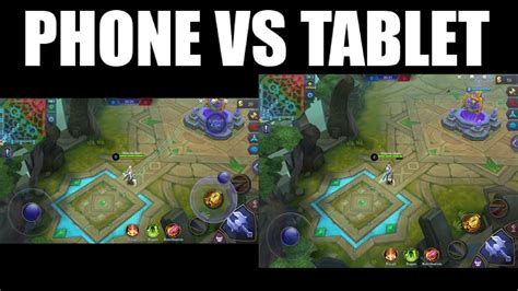 Iphone Android Vs Ipad Tablet Screen When Playing Mobile