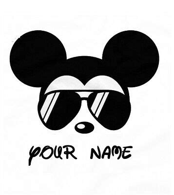 Free transparent sunglasses vectors and icons in svg format. DISNEY MICKEY MOUSE SUNGLASSES**PERSONALIZED*FABRIC/T ...