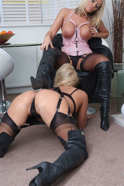 Lucy Zara And Dannii Harwood Are Leather Boot Licking