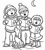 Navidad Colorear Dibujos Coloring Imprimir Holiday Printable Ninos Carolers Pintar Dibujo Cena Imagenes Familia Disegni Guardado Desde Colorare Gravity Personajes sketch template
