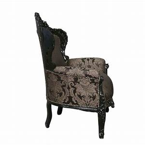 Meuble Baroque Pas Cher : fauteuil baroque noir rococo meuble baroque ~ Farleysfitness.com Idées de Décoration
