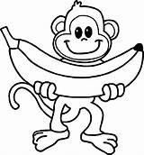 Monkey Coloring Cartoon Printable Animal Colorir 101coloring Desenhos Macaco Monkeys Adults Adult Faca sketch template