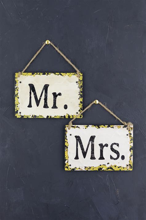 Mr & Mrs Signs Metal 6x4in. Walking Decals. Sunrise Stickers. Wintery Lettering. Parking Detroit Murals. Trump Banners. Real Stickers. Custom Sticker Tags. Mountain Signs Of Stroke
