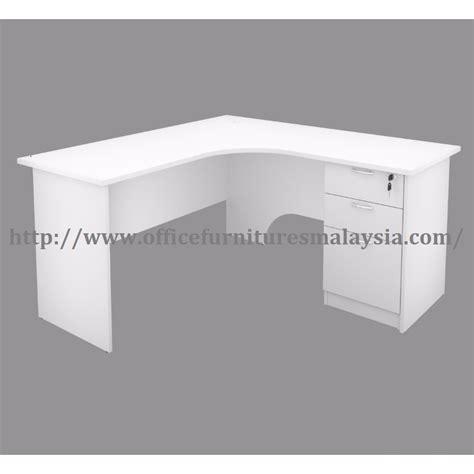 white table l shade 6ft x 5ft white office table desk l shape office