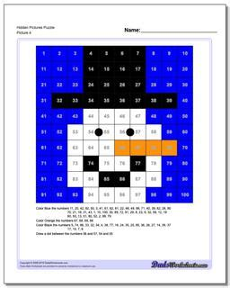 hundreds chart hidden pictures puzzles
