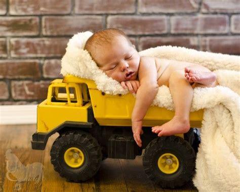 sweet baby photo   toy dump truckdefinitely