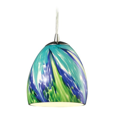 led glass pendant lights led mini pendant light with blue glass 31445 1tb led