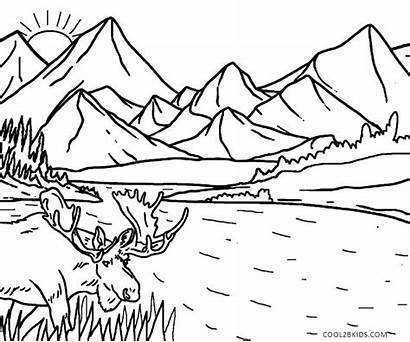 Pages Nature Coloring Scenes Colouring Printable Scene