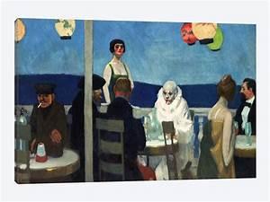 Soir Bleu Canvas Art Print By Edward Hopper ICanvas
