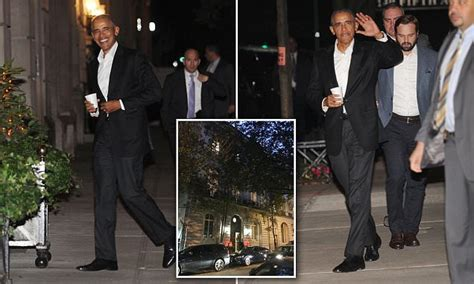 barack obama spotted heading  posh democratic fundraiser