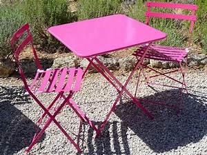 Salon De Jardin Metal : salon de jardin metal couleur table tressee exterieur ~ Dailycaller-alerts.com Idées de Décoration