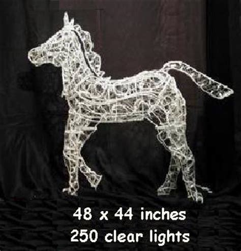 ft  lights horse sculpture lighted christmas daccor