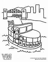 Gondola Vancouver Colouring Pages Drawing Aquabus Coloring Getdrawings Science sketch template