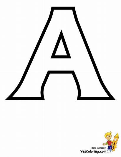 Alphabet Coloring Sheets Yescoloring Letter