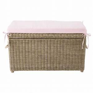 Banc Coffre Maison Du Monde : coffre jouets rotin rose pastel maisons du monde ~ Premium-room.com Idées de Décoration