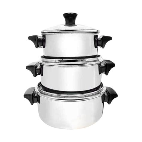 Harga Panci Dandang Maspion jual maspion stainless steel set panci silver