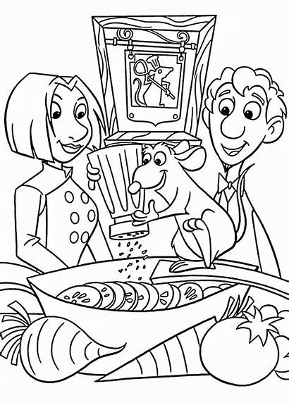 Ratatouille Coloring Cooking Pages Printable Disney Colouring