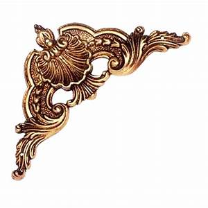 Buy Patine Furniture Carving - POV/Old Gold Finish Online
