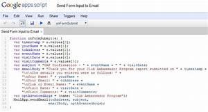 sending confirmation emails with a google docs form alamoxie With google docs app script