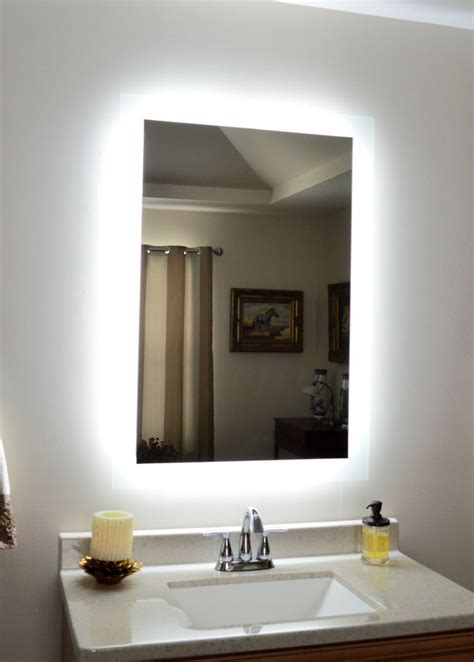 lighted vanity mirror make up wall mounted led bath