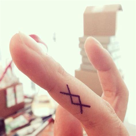 finger tattoo ancient viking symbol spiritual mental