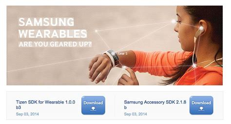 tizen wearable sdk gets updated to verison 1 0 0 beta 3 added support for samsung gear s iot