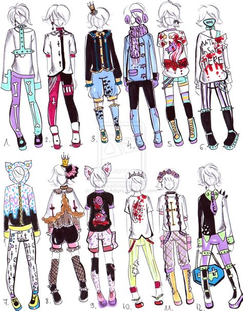 -CLOSED- Pastel goth male clothes by Guppie-Adopts.deviantart.com on @deviantART | Goth set and ...