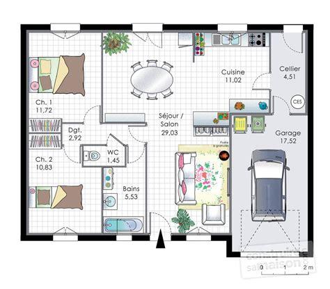 plan maison plain pied 4 chambres garage plan de maison 5 chambres plain pied gratuit plan rdc