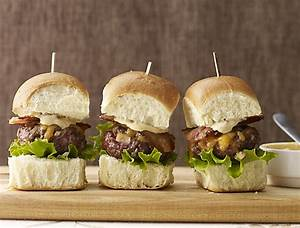 Bacon Cheddar Sliders Recipe with Spicy Chipotle