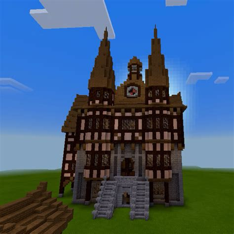 medieval germanic town hall minecraft blueprints minecraft city minecraft houses