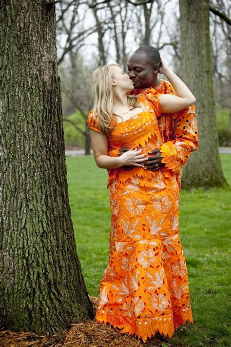 Absolutely Stunning Mixed Couple In Nigerian Lace For