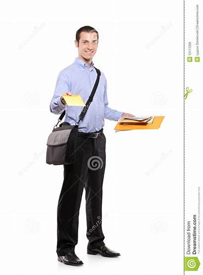 Postman Mail Delivering Royalty Male Hand Mailing