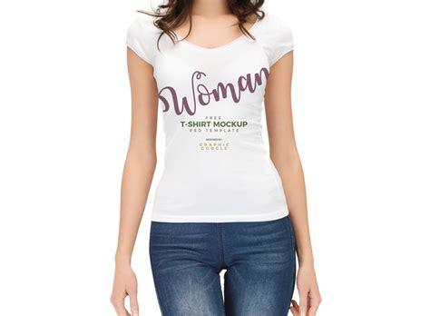 mockup t shirt woman wearing t shirt mockup mockupworld
