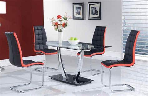 high class glass top  piece designer dinette set