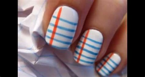 Notebook-inspired Manicures