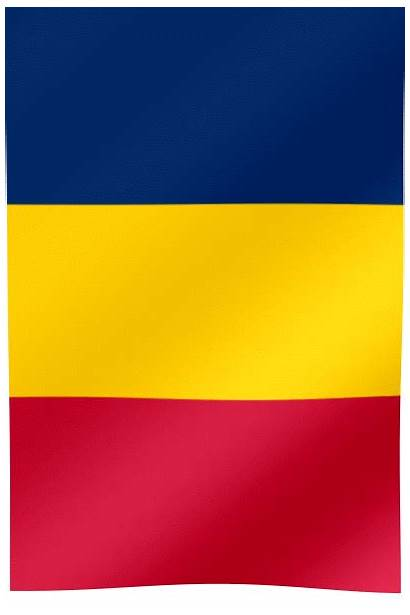 Flag Chad Waving Vertical Animated Flags Djamena