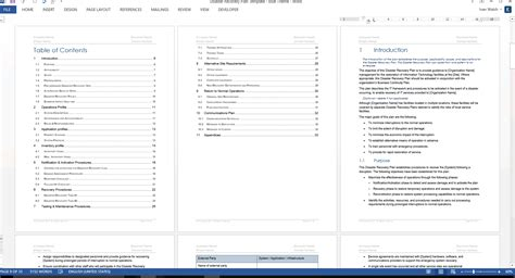 disaster recovery plan template ms word excel 42 itil disaster recovery plan template itil disaster