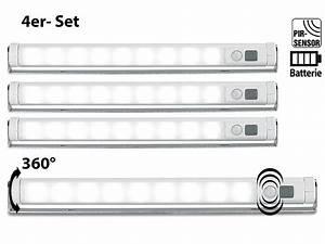 Bilder Lampen Mit Batterie : lunartec led lichtleiste mit bewegungsmelder kaltwei 4er set ~ Markanthonyermac.com Haus und Dekorationen