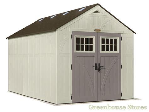 suncast garden shed bms7775 suncast 8x13 tremont two plastic garden shed