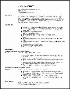 free traditional sports coach resume template resumenow With how to make a coaching resume