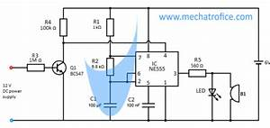 Led Flasher Circuit Diagram Using 555 Timer Ic