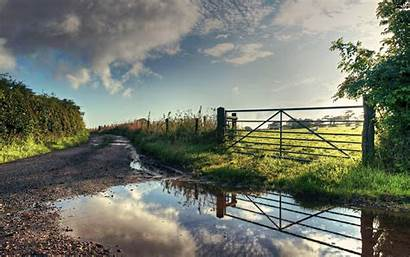 Nature Road Fence Wallpapers Muddy 3d Landscape