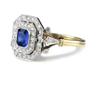 unique sapphire engagement rings emerald cut sapphire and engagement ring unique wedding rings