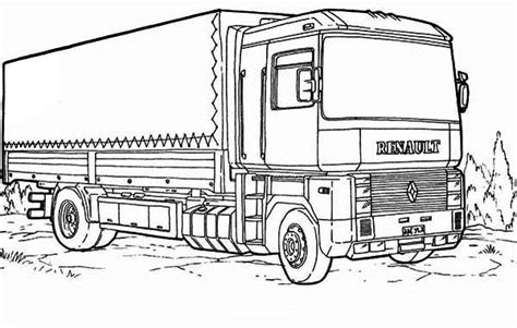 renault semi truck coloring page  print  coloring pages   color nimbus